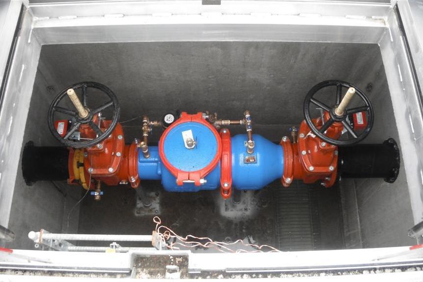new 8 inch dcda backflow prevention assembly for the fire sprinkler