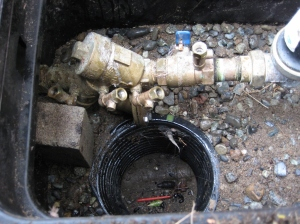 Wilkins 975XL RPBA installed below ground on an irrigation system